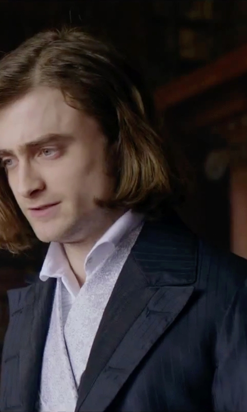 Daniel Radcliffe with John Varvatos 2 Button Peak Suit in Victor Frankenstein