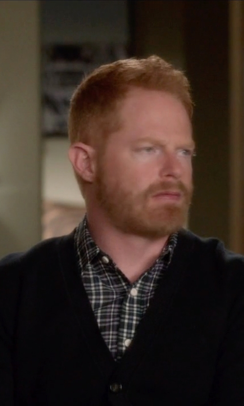 Jesse Tyler Ferguson with Turnbury Merino Wool Cardigan Sweater in Modern Family