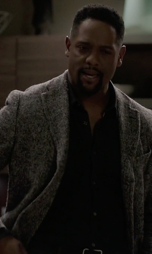 Blair Underwood with Eleventy Laser-Cut Wool Blend Jacket in Quantico