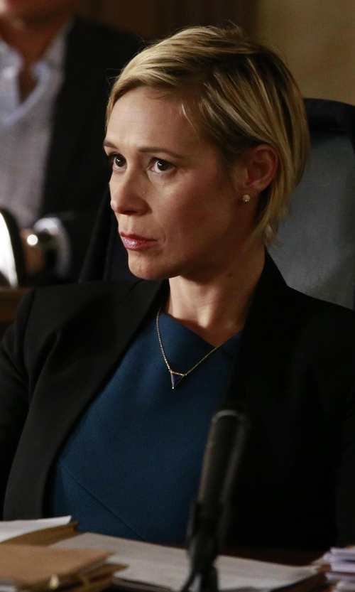 Liza Weil with Rag & Bone Windsor One-Button Blazer in How To Get Away With Murder