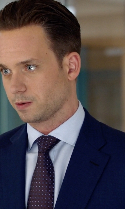Patrick J. Adams with Stefano Ricci	 Tonal-Stripe Dress Shirt in Suits