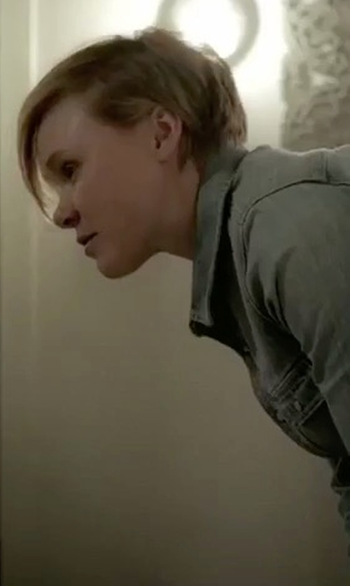 Alison Pill with Levi's Red Tab Western Style Cotton Denim Shirt in American Horror Story