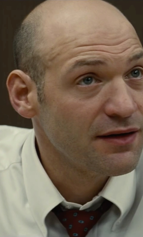 Corey Stoll with John W Nordstrom Signature Traditional Fit Solid Dress Shirt in Black Mass