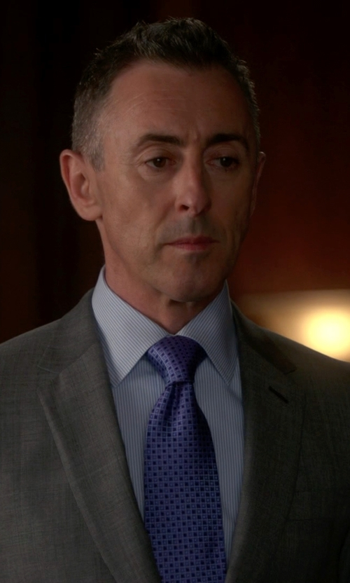 Alan Cumming with Tommy Hilfiger Micro Neat Tie in The Good Wife