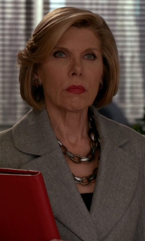 Christine Baranski with Pono Alchemy Bike Chain Abs Necklace in The Good Wife