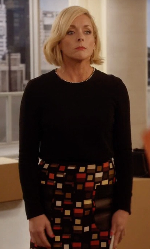 Jane Krakowski with Peter Pilotto Knee Length Skirt in Unbreakable Kimmy Schmidt