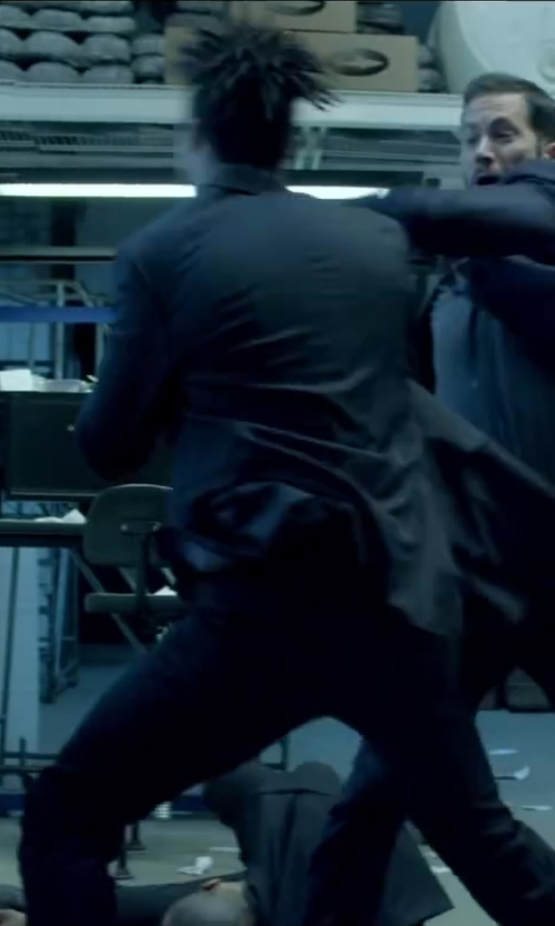 Unknown Actor with Express COTTON SATEEN PHOTOGRAPHER SUIT PANT in Brick Mansions