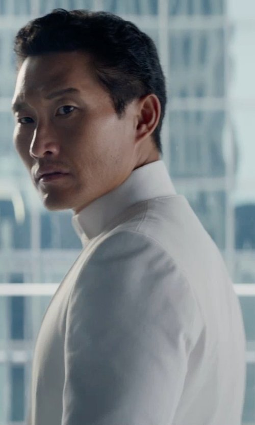 Daniel Dae Kim with Marni Mandarin Collar Shirt in The Divergent Series: Insurgent