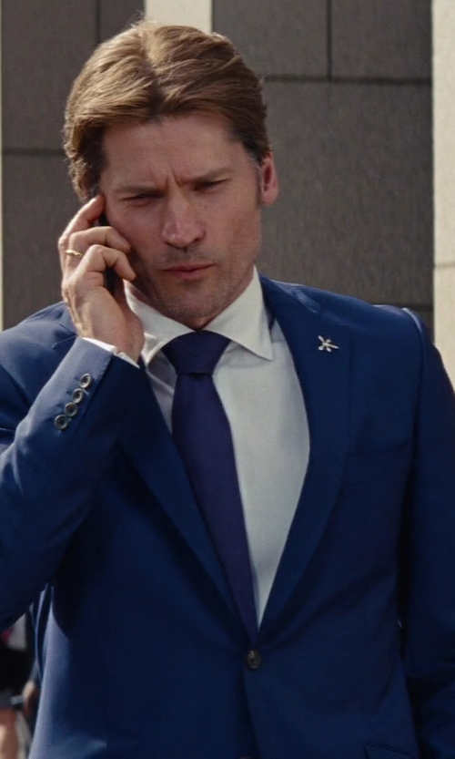 Nikolaj Coster-Waldau with Tom Ford Made to Measure Blue Suit in The Other Woman