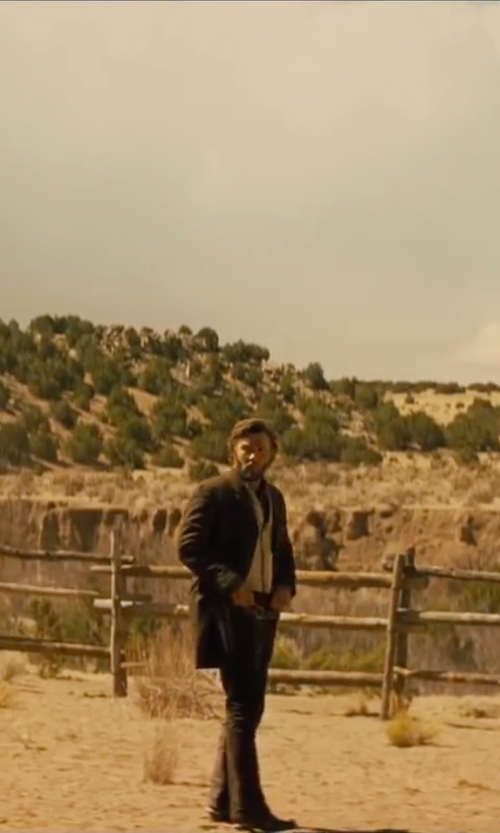 Joel Edgerton with Rem Straight Leg Denim Pants in Jane Got A Gun