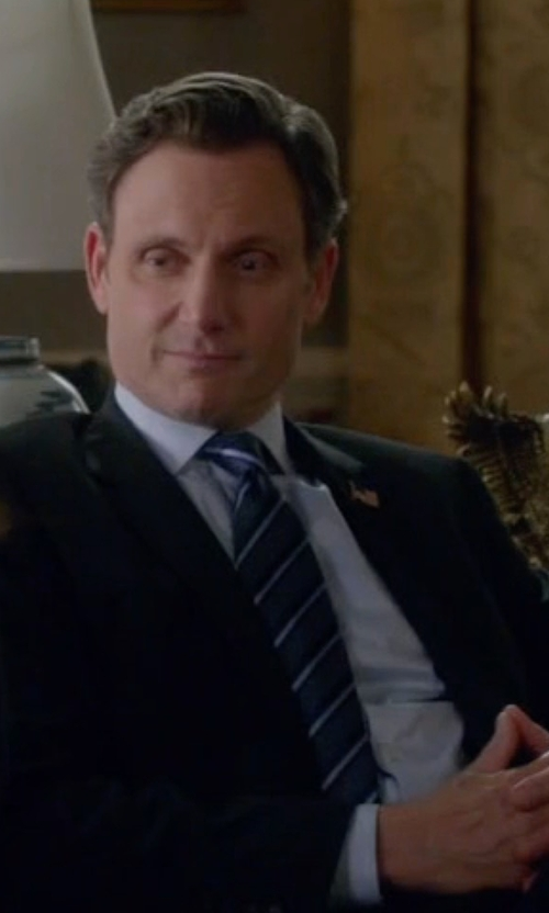 Tony Goldwyn with Davidoff Icon Stripes Silk Tie in Scandal
