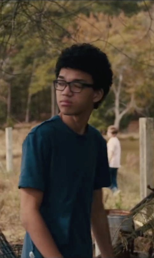 Justice Smith with Spy Optic Reed Rectangular Eyeglasses in Paper Towns