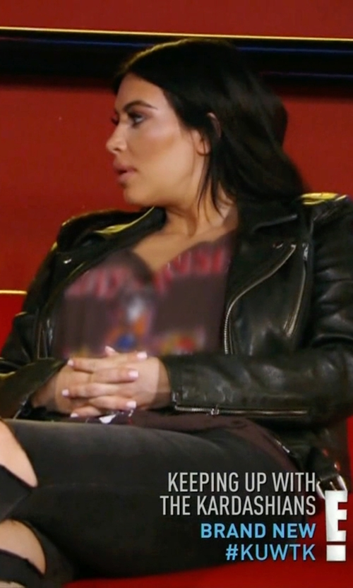 Kim Kardashian West with BLK DNM Leather Jacket 1 in Keeping Up With The Kardashians
