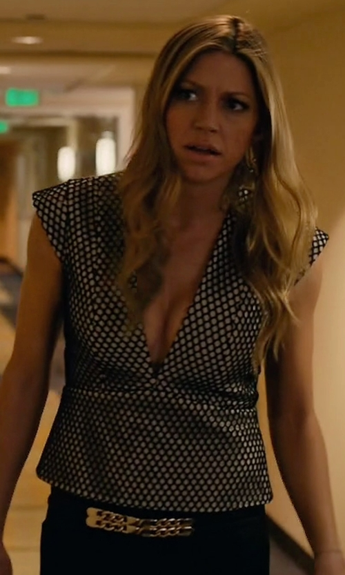 Jes Macallan with Mason by Michelle Mason Mesh Peplum Top in Mistresses