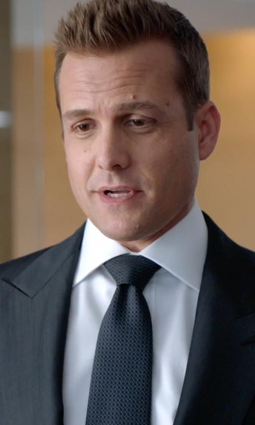 Gabriel Macht with Robert Talbott Classic Fit Solid French Cuff Dress Shirt in Suits