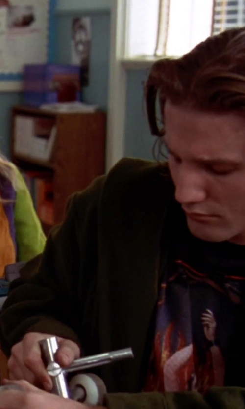Breckin Meyer with Obey Glen E. Friedman Henry Rollins T-Shirt in Clueless