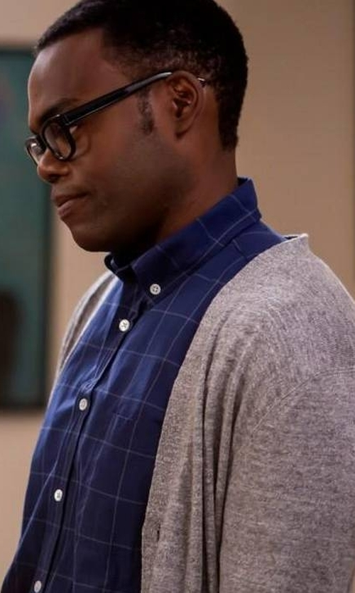 William Jackson Harper with Saks Fifth Avenue Collection  Lincoln Cotton & Linen Cardigan in The Good Place
