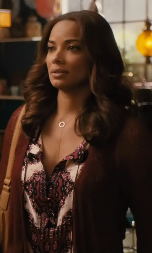 Rochelle Aytes with American Eagle Outfitters Open Stitch Cardigan in Mistresses