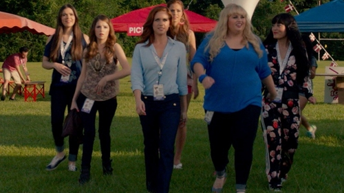 Brittany Snow with Juicy Couture Sailor Wide Leg Jean in Pitch Perfect 2