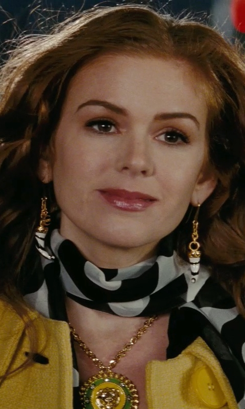 Isla Fisher with Just Cavalli Black & White Horn Earrings in Confessions of a Shopaholic
