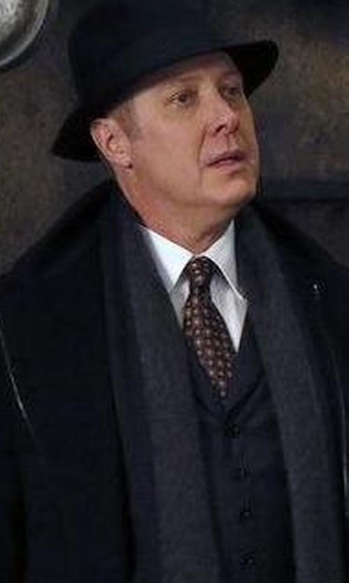 James Spader with Borsalino Tasso Short-Brim Hat in The Blacklist