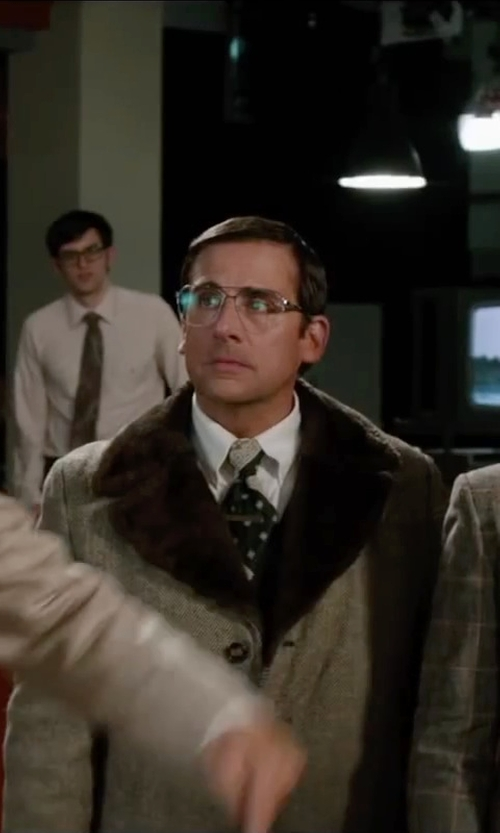 Steve Carell with Save Khaki Workshirt in Anchorman 2: The Legend Continues