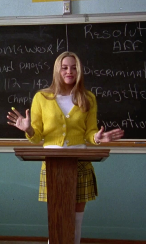 Alicia Silverstone with Seneca Clothing Tartan Plaid Pleated Mini Skirt in Clueless