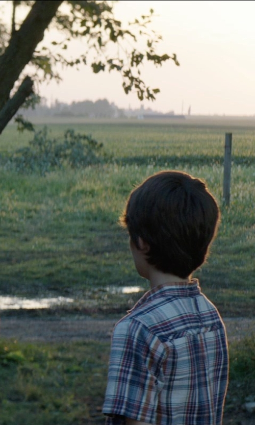Robert Daniel Sloan with Joe Fresh Kid Boys' Plaid Short Sleeve Shirt in Sinister 2