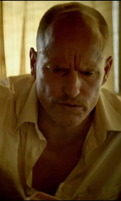 Woody Harrelson with James Perse Short-Sleeve Shirt in Triple 9