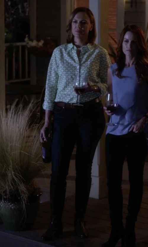 Lesley Fera with Cole Haan Kenmare Tall Riding Boots in Pretty Little Liars