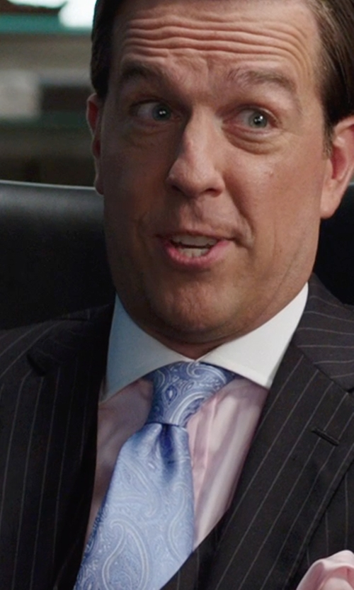 Ed Helms with Balenciaga Pinstriped Suit in We're the Millers