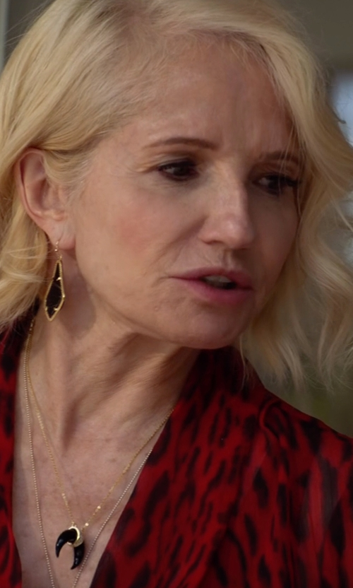 Ellen Barkin with Joolz by Martha Calvo Crescent Moon Necklace in Animal Kingdom