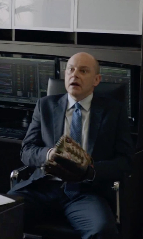 Rob Corddry with Emporio Armani Two Piece Suit in Ballers
