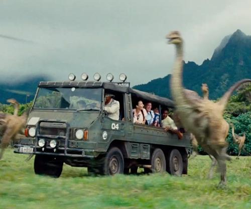 Unknown Actor with Steyr Daimler Puch Pinzgauer 712 M Truck in Jurassic World