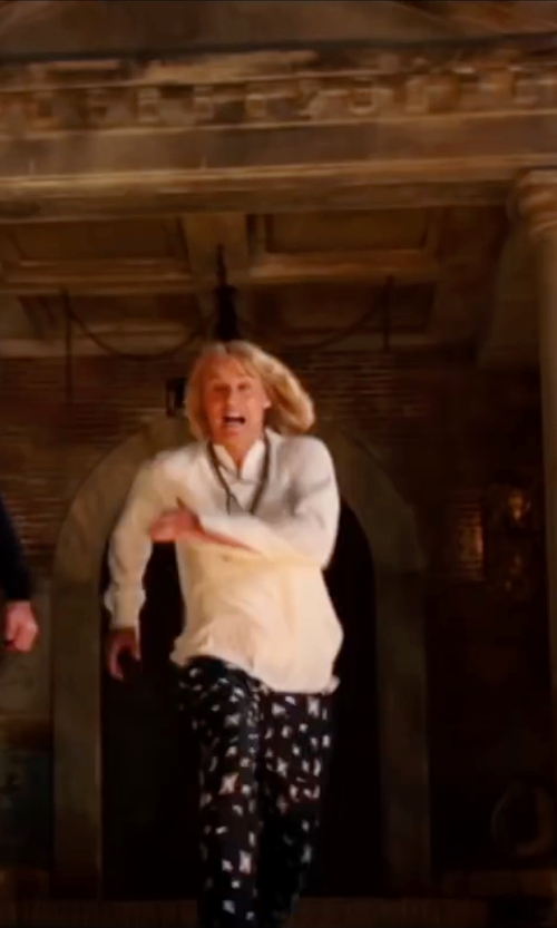 Owen Wilson with 10 Crosby by Derek Lam Track Pant Printed Trouser in Zoolander 2