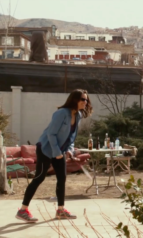 Tina Fey with Just Living Pocket Chambray Shirt in Whiskey Tango Foxtrot