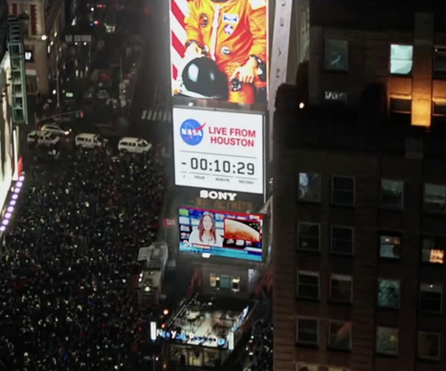Unknown Actor with One Times Square New York City, New York in The Martian
