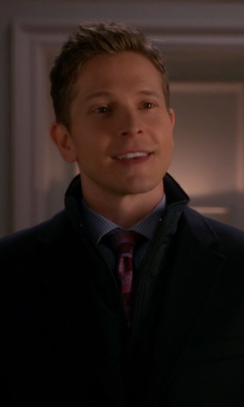 Matt Czuchry with Tommy Hilfiger Cashmere-Blend Trim-Fit Over Coat in The Good Wife