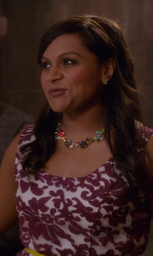 Mindy Kaling with NuraBella Multi-Color Necklace in The Mindy Project