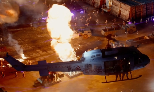 Unknown Actor with Bell Textron 407 Helicopter in Terminator: Genisys