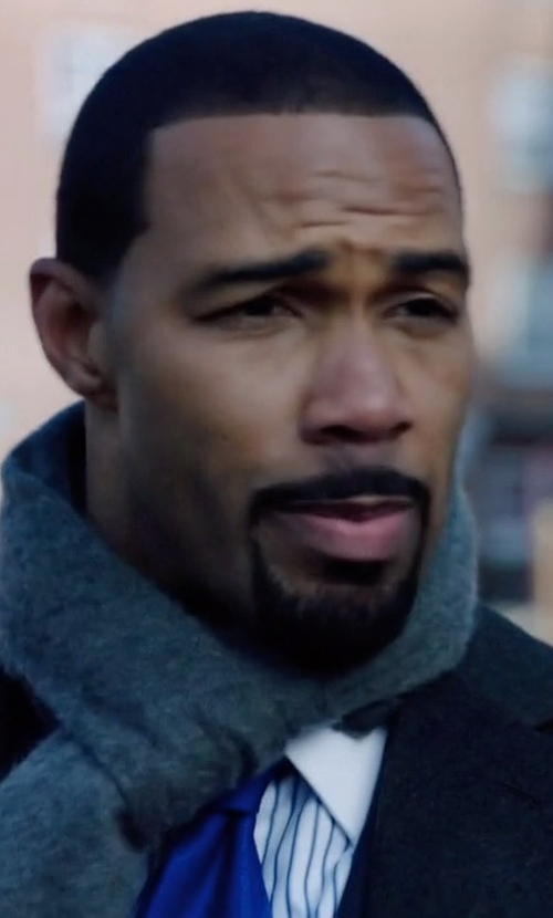 Omari Hardwick with MSGM Oblong Scarf in Power