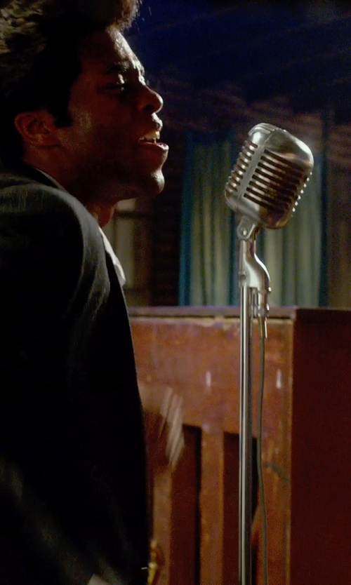 Chadwick Boseman with Shure Series II Iconic Unidyne Vocal Microphone (The Elvis Microphone) by Shure in Get On Up