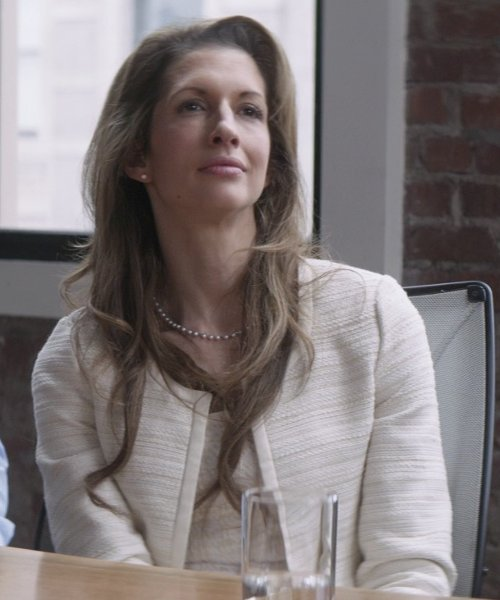 Alysia Reiner with St. John Collection Sparkle Tweed Knit Sheath Dress in That Awkward Moment