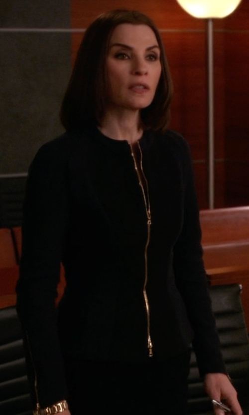 Julianna Margulies with Jil Sander Zip Blazer in The Good Wife