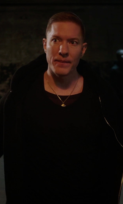 Joseph Sikora with Ben Taverniti X Unravel Project Shearling Hooded Jacket in Power