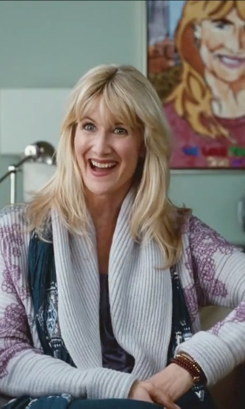 Laura Dern with Fengbay Women's Loose Knitting Cardigan in Little Fockers