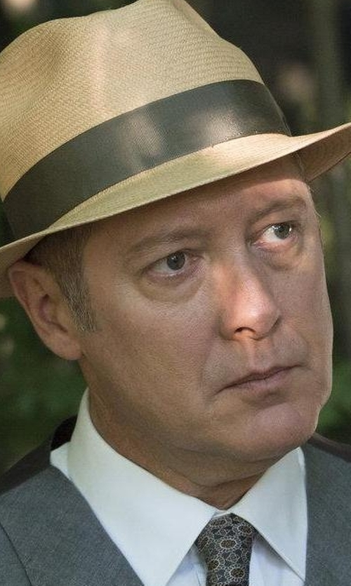 James Spader with Isaia Diamond Silk Tie in The Blacklist