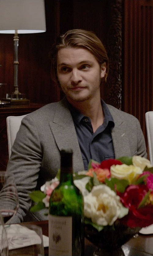Luke Grimes with Moschino Jersey Style Blazer in Fifty Shades of Grey