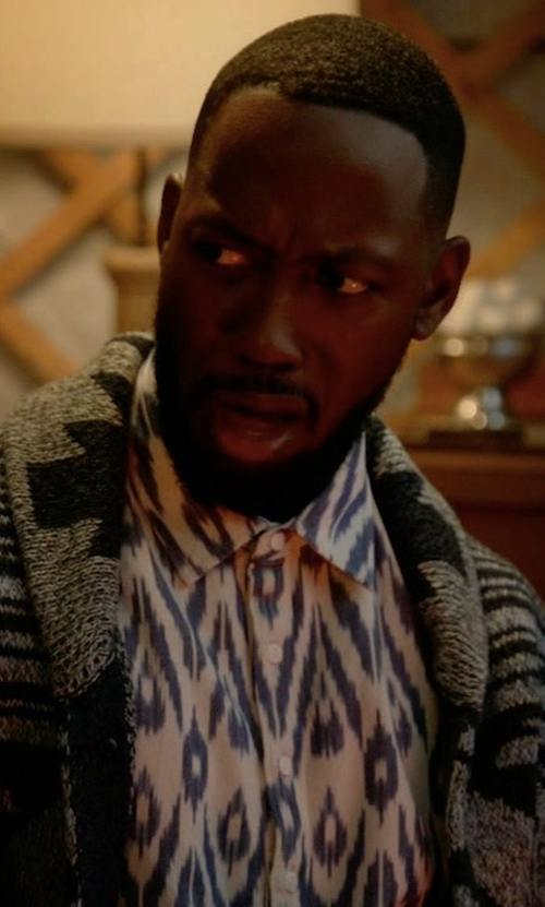 Lamorne Morris with Tommy Bahama Cuba Cruiser Graphic-Print Shirt in New Girl