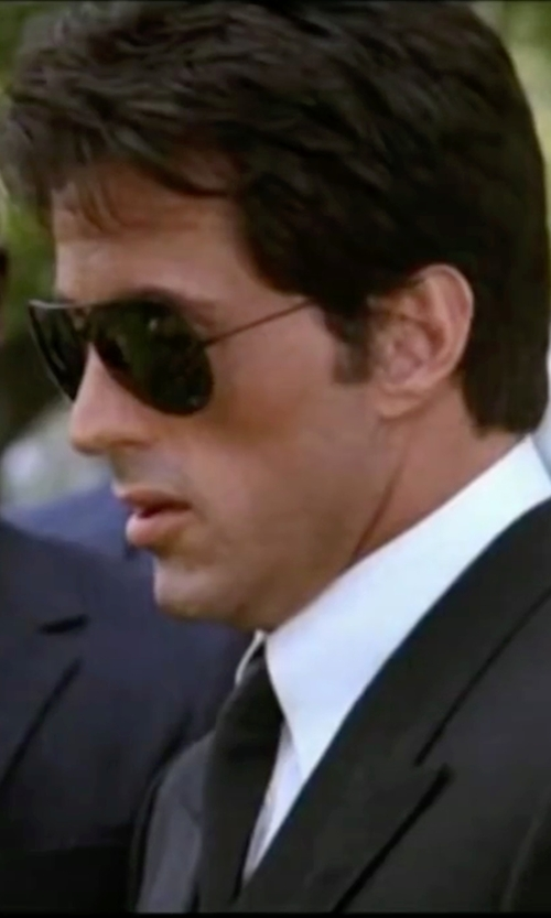 Sylvester Stallone with Ray-Ban 'Polarized Original Aviator'  Sunglasses in Rocky IV